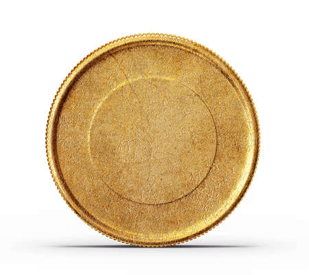 gold coin isolated on a white background photo