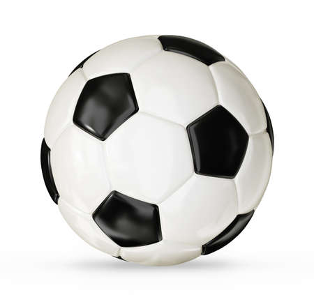 pelota de futbol: bal�n de f�tbol aislado en un fondo blanco Foto de archivo