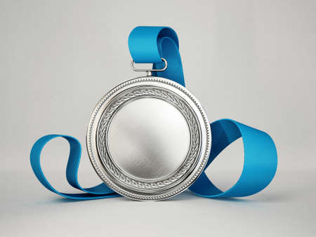 first prize: gold medal isolated on a grey background Stock Photo