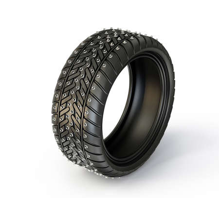 winter tire isolated on a white background photo