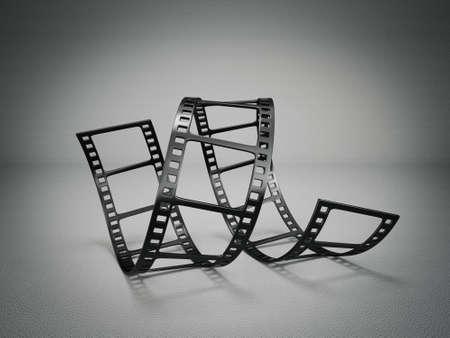 フィルム ストリップの灰色の背景に分離 写真素材