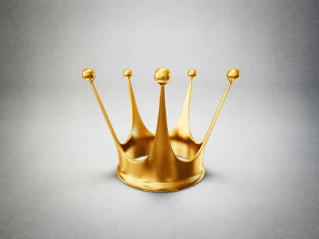coronation: golden crown isolated on a grey background