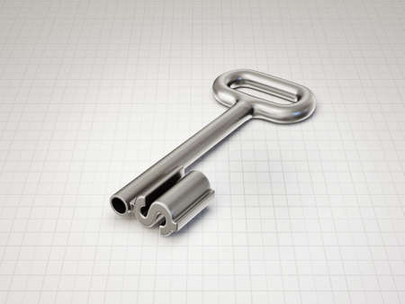 key to success: concept key isolated on a white background