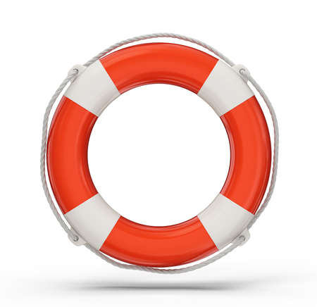 lifebelt: lifebuoy isolated on a white background. 3d illustration