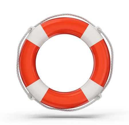 swimming belt: lifebuoy isolated on a white background. 3d illustration