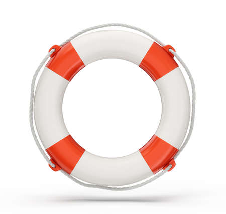 life support: lifebuoy isolated on a white background. 3d illustration