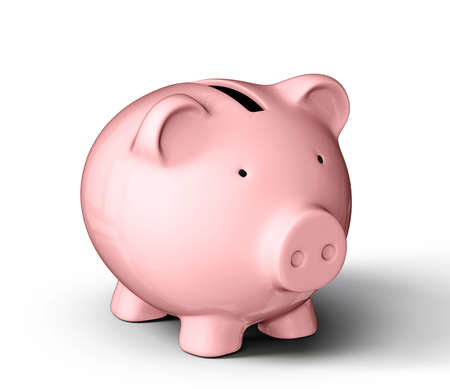 piggybank: piggy bank isolated on a white background