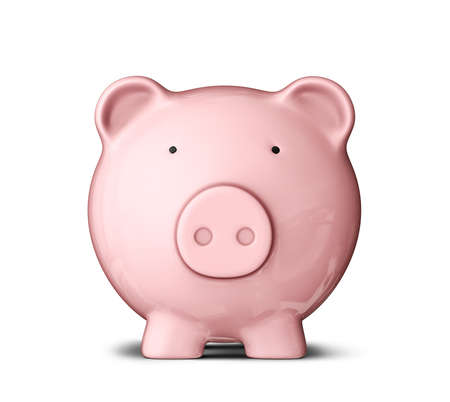 piggy bank isolated on a white background photo