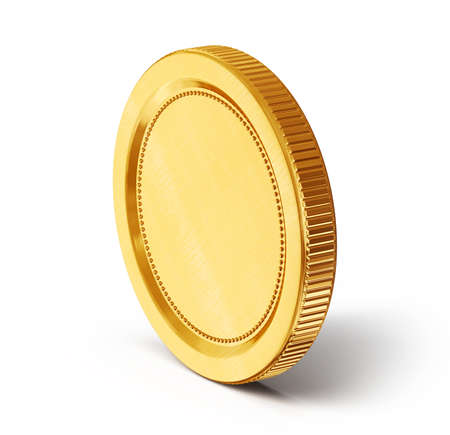 pound coin: gold coin isolated on a white background