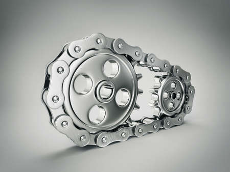 gears part isolated on a grey  background photo