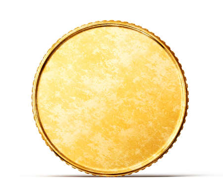 gold coin isolated on a white background 版權商用圖片 - 25742113