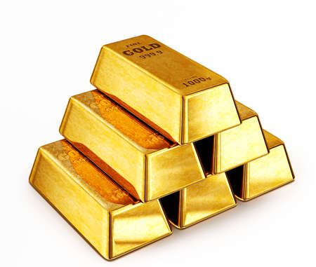 gold bars: gold bars isolated on a white background