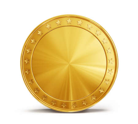 gold: gold coin isolated on a white background