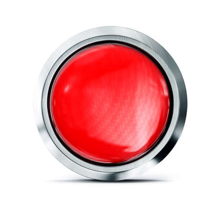 red button isolated on a white background photo