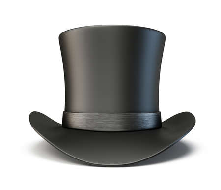 bowler hats: black hat isolated on a white background Stock Photo