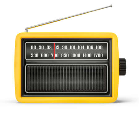 retro radio: old radio isolated on a white background