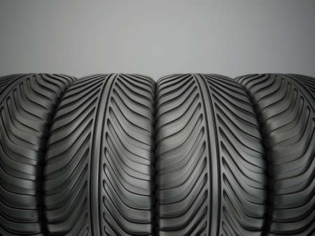 sport tyres isolated on a grey background photo