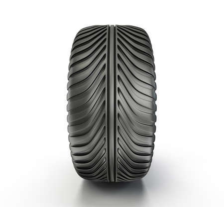 car tire: sport tyre isolated on a white background