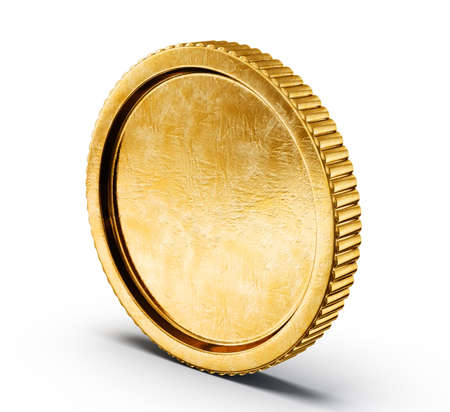 Gold coin: golden coin isolated on a white backgroound