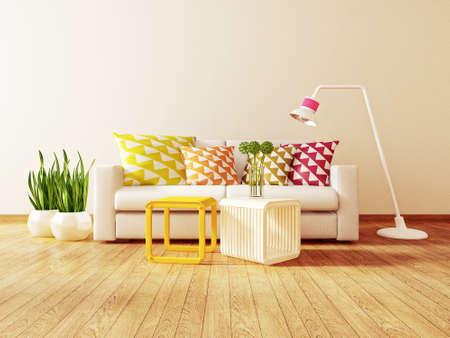 아름다운 가구와 현대 간 방