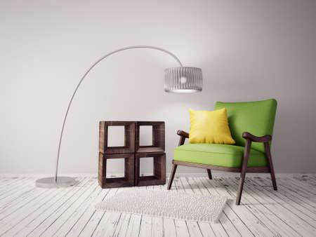 現代間美しい家具を備えたルーム