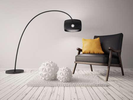 美しい家具を備えたモダンなインテリア ルーム
