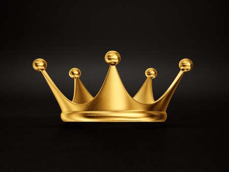 corona de reina: corona de oro aislado en un fondo negro