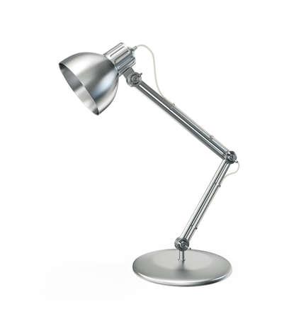 metallic lamp geïsoleerd op een witte achtergrond Stockfoto