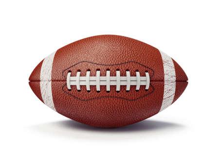 college footbal: bal�n de f�tbol aislado en un fondo blanco Foto de archivo