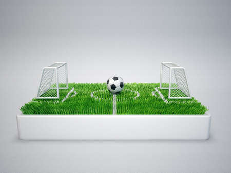 goal post: football illustration isolated on a grey background