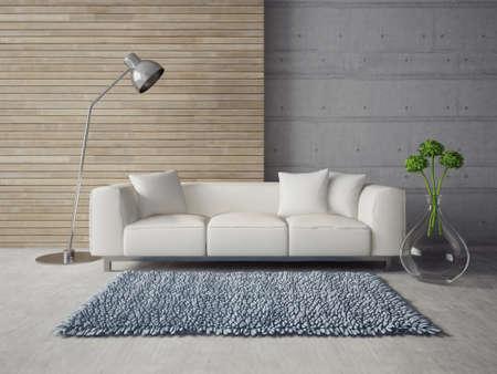 3d render. modern interior with a beautiful furniture Standard-Bild