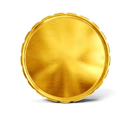 ゴールド コインは、白で隔離。3 d イラストレーション