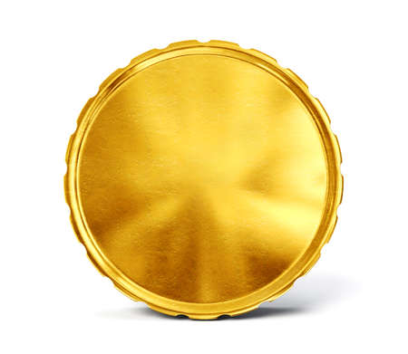golden coins: gold coin isolated on a white. 3d illustration