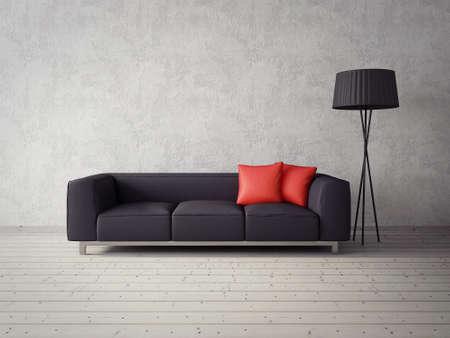 Rendering 3D. moderna sala interna con mobili stupendi. Archivio Fotografico - 36059317