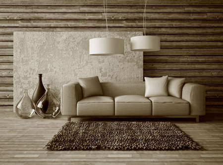 living room: 3d render. modern interior room with a beautyful furniture.