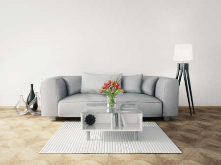 modern sofa: 3d render. modern interior room with a beautyful furniture.