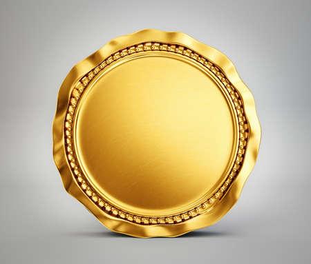 Gold coin: đồng tiền vàng bị cô lập trên một nền màu xám