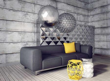 3D 렌더링합니다. 으로 beautyful 가구와 현대적인 인테리어 룸.