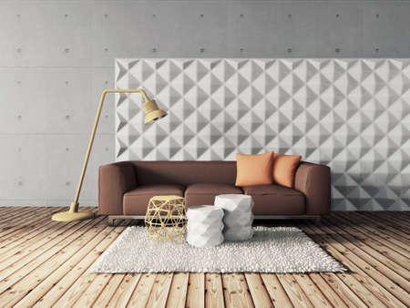 3d render. modern interior room with a beautyful furniture. Reklamní fotografie - 37926721