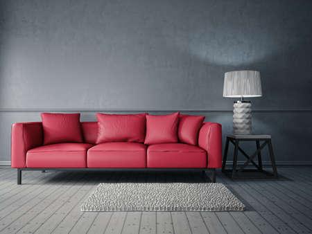 3 d のレンダリング。 美しい家具を備えたモダンなインテリア ルーム 写真素材