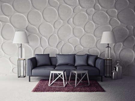 3d render.  modern interior room with a beautiful furniture Standard-Bild