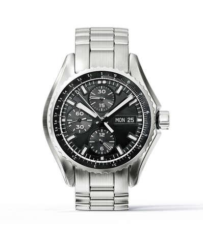 pols horloge geïsoleerd op een witte achtergrond Stockfoto