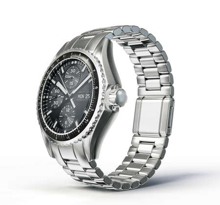 wrist: wrist watch isolated on a white background Stock Photo