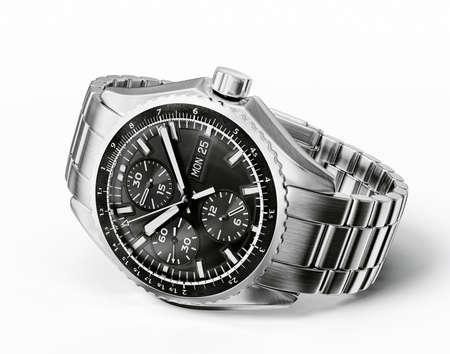 손목 시계는 흰색 배경에 고립 스톡 콘텐츠