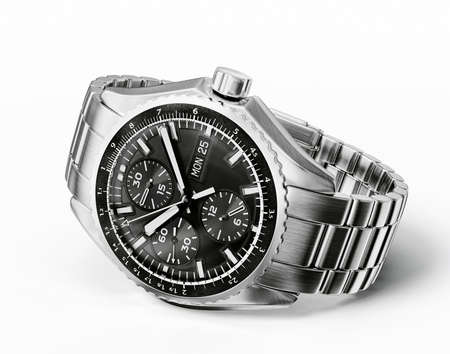 wrist watch: wrist watch isolated on a white background Stock Photo
