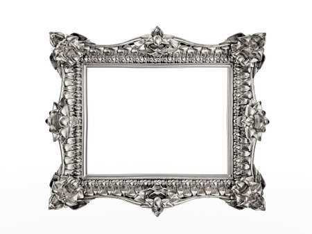 silver frame: silver frame isolated on a white background