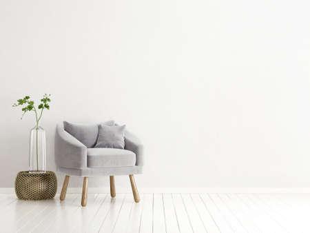 Espacio interior moderno con muebles agradable. 3d ilustración Foto de archivo - 74520171