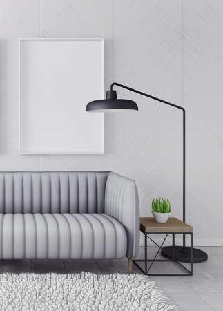 modern living room: Modern interior room with nice furniture. 3d illustration