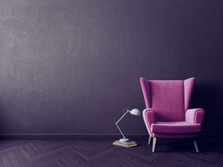 modern house: Modern interior room with nice furniture. 3d illustration