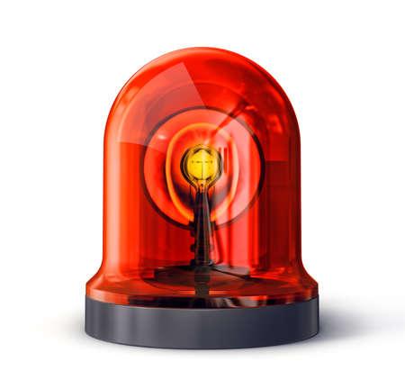 siren isolated on a white. 3d illustration Stock Photo